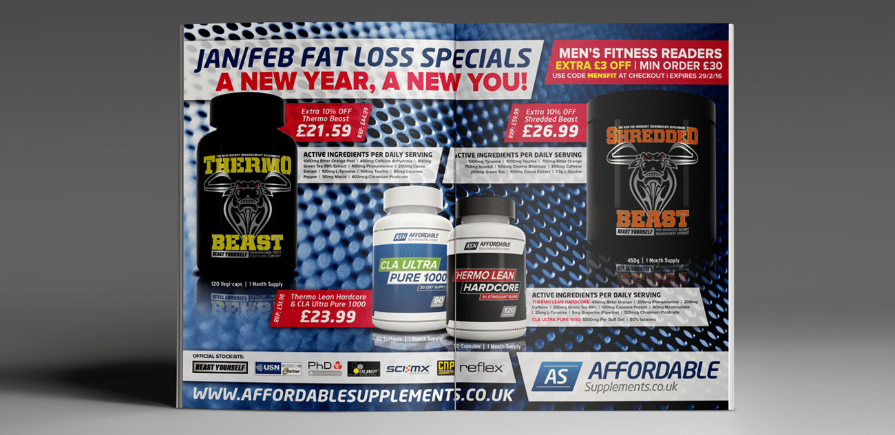 Affordable Supplements advert design