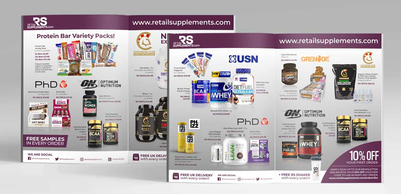 Retail Supplements advert design