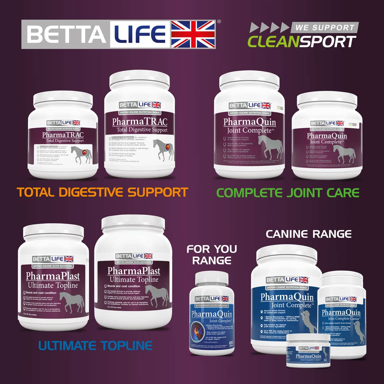 BETTALIFE Label Designs