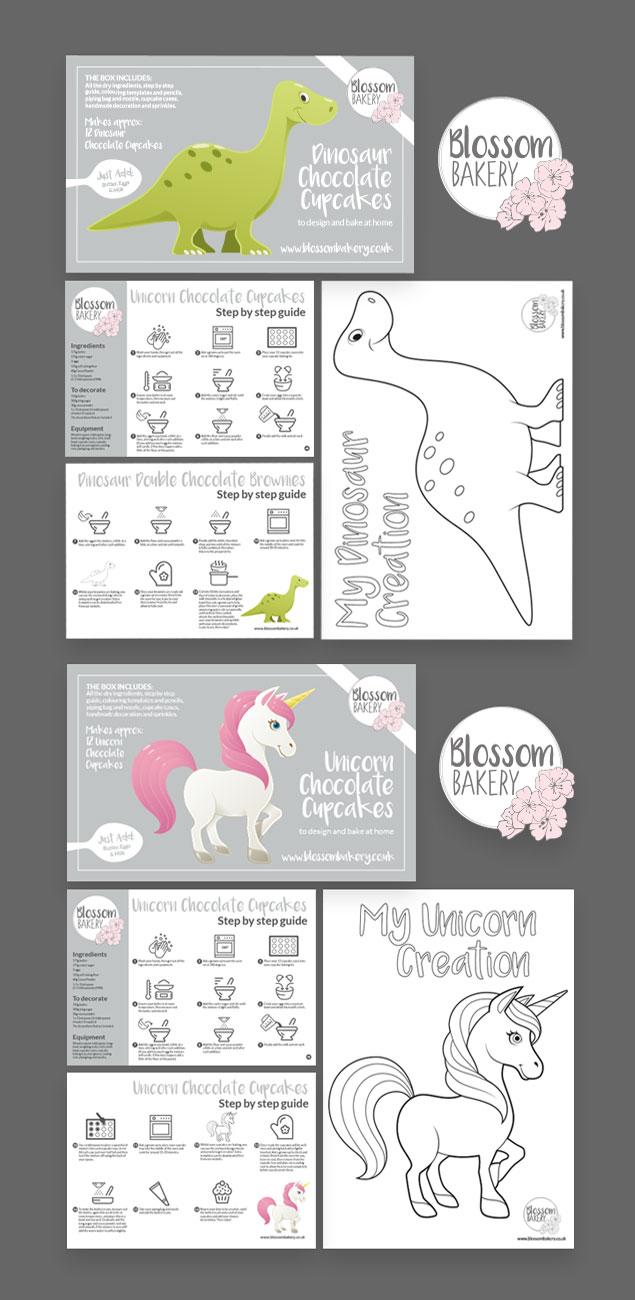 Blossom Bakery packaging design
