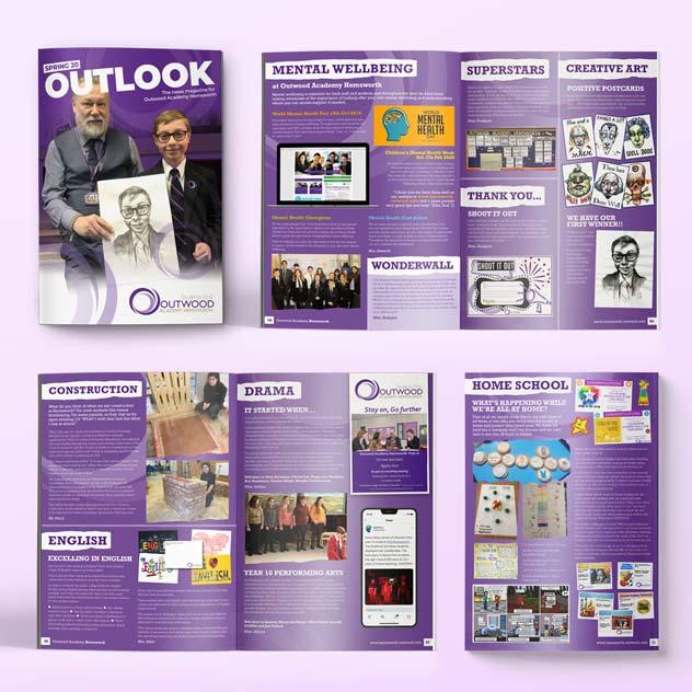 outlook magazine design