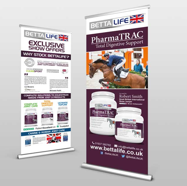 BETTALIFE ROLLER BANNER DESIGNS