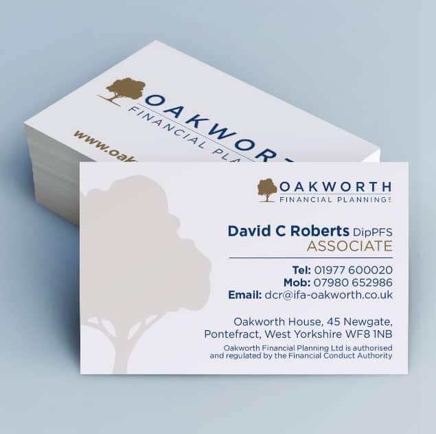 Oakworth Business card design