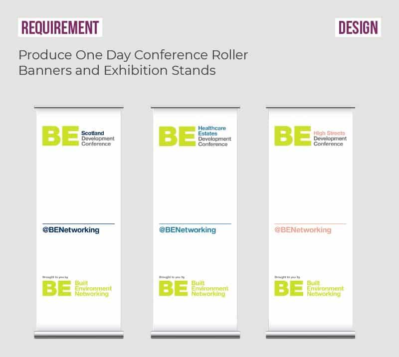 BEN roller banner design